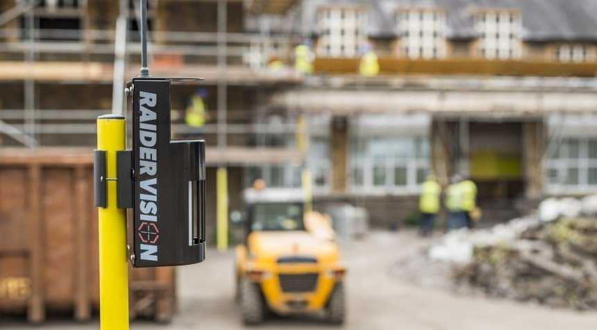 Construction site security alarm